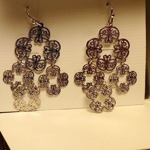 "Lia Sophia Jewelry - Lia Sophia ""Chime"" Silver Tone Filigree Earrings"